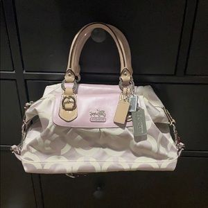 Small pink Coach Sabrina with silver hardware